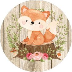 Forest Animals, Woodland Animals, Fox Kids, Party In A Box, Woodland Baby, Baby Furniture, Minimalist Art, Art Projects, Crafts For Kids