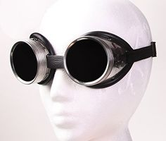 Steampunk Metal Welding Goggles - Dark Tinted Glass Lens ... https://www.amazon.com/dp/B018F3OW5C/ref=cm_sw_r_pi_dp_x_CvlRxbS19FP91