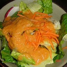 Benihana Ginger Dressing.  This is a highly rated ginger salad recipe supposedly duplicating Benihana's dressing.  I plan to try it the next time we do stir-fry or home hibachi.