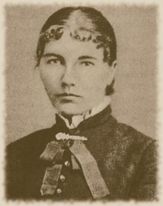 Laura Ingalls Wilder, a young schoolteacher, 1884