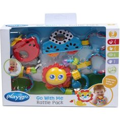 Wal-Mart.com USA LLC  Playgro Go With Me Rattle Pack Boy 3 Pieces