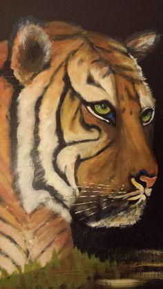 Tiger in Acryl