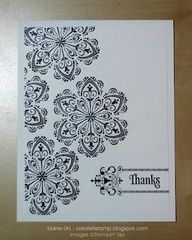 Mixed Bunch, Creative Elements, and Kindness Matters stamp sets. black and white card. Stampin Up! Would look great in other tone-on-tone colors, too!