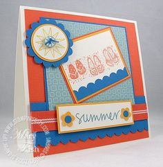 Paper: Hand Drawn Designer Paper, Tangerine Tango and Pacific Point Textured, Summer Sun, Whisper White Ink: Summer Sun, Tangerine Tango