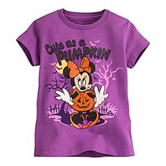 Minnie Mouse Halloween Tee for Girls | Disney Store Ghouls just want to have fun while wearing Minnie's cute-as-a-pumpkin tee that glitters with Halloween glamour!