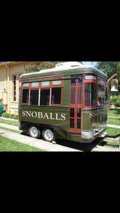 A sno-ball truck styled to resemble one of the city's famous streetcars. Only in NOLA!