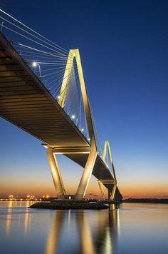 Ravenel Bridge over the Cooper River in Charleston, SC.  Bridge Run next week!  Can't wait!