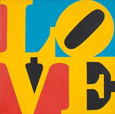 Robert Indiana (b. 1928)  Lovededicated and dated 'For Nina III 66' (on a label adhered to the reverse of the backing board)oil on canvas12 x 12 in. (30.5 x 30.5 cm.)Painted in 1966.