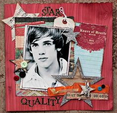The perfect older boy layout!  The teens can be so difficult to scrap!