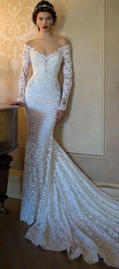 Barato Nova moda vestidos de casamento 2015 de manga comprida vestido de noiva…