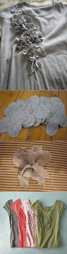 Украшаем трикотажную блузку своими руками. :) | шитье | Постила