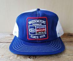 0116784d7a19b Vtg 80s FORD Watkin Motors Vernon Mesh Trucker Hat Snapback Canada Cap  Canada