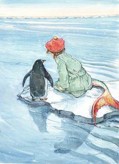 Mermaid and penguin