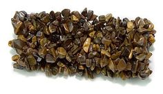"""$9.99 Amazon.com: 100% Natural 7"""" Assorted Wide Woven Healing Crystals Gemstones Stretch Bracelets (Tiger Eye): Jewelry"""