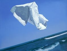 "David Ligare - ""Naxos (Thrown Drapery)"", 1978 - Oil on canvas (Private Collection, New York, NY)"