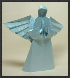 Origami Angel Free Diagram Download - http://www.papercraftsquare.com/origami-angel-free-diagram-download.html