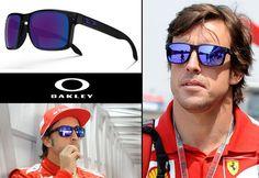 Fernando Alonso luciendo unas #Oakley #Holbrook