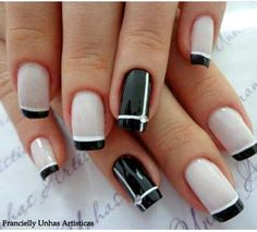 French Nails - Hello my page Trendy Nail Art, Stylish Nails, Classy Nails, Hot Nails, Hair And Nails, Gel Nails French, French Manicures, Nagel Gel, Gel Nail Designs