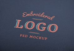 Embroidered Logo MockUp | GraphicBurger