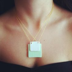 would be great to make this! looks easy, love how modern it is. #handmadejewelry