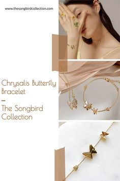 Our Chrysalis Butterfly Bracelet is a dainty chain bracelet for butterfly lovers! Gold Plated on 925 Silver Butterfly Bracelet, Layered Jewelry, Bangles, Bracelets, Layering, 925 Silver, Women Jewelry, Plating, Lovers