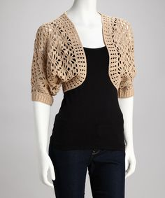 so cute -  - Crocheted Shrug by Wardrobe Classics: Women's Apparel on #zulily today!