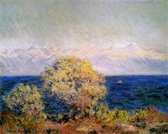 At Cap d'Antibes, Mistral Wind by Claude Monet 1888