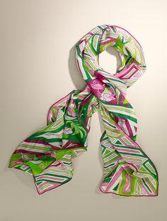 Talbots - Geo-Floral Scarf | Scarves & Wraps |