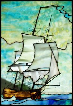 Ship Stained Glass by Robert Oddy