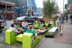 30 downtown parking spots to become tiny pop-up parks Friday