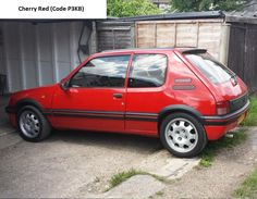 Peugeot GTI 205 Phase 2 Cherry Red Modern Classic, Classic Cars, Renault 5 Gt Turbo, Lewis Hamilton, Phase 2, E30, Cherry Red, Car Pictures, Peugeot