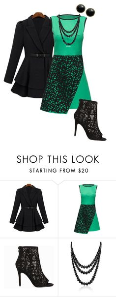 """Untitled #887"" by pholtond on Polyvore featuring Lattori, Nly Shoes, Bling Jewelry and Karen Kane"
