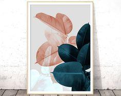 Plant Prints, Printable Wall Art, Botanical Art, Tropical Leaf Print, Digital Print Download, Instant Download Printable Art, Leaves Print