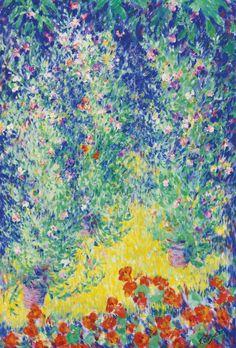 Theodore Earl Butler - Flowers in a Garden - 1928.