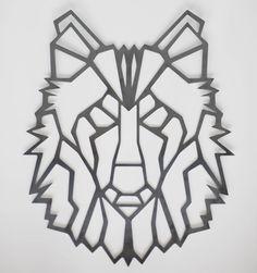 Wolf - Geometric - Steel - Wall Art - Wall hanging - Art - Silhouette