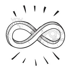 Vector of Infinity symbol sketch (€11) ❤ liked on Polyvore featuring fillers, backgrounds, pictures, drawings, decoration, doodles, quotes, text, phrase and saying