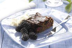 Chocolate and blackberry slice recipe