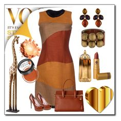 """""""Bronze"""" by lindaking67 ❤ liked on Polyvore featuring Proenza Schouler, Gucci, Pier 1 Imports, Tom Ford, Marni, Oscar de la Renta, Thierry Mugler, Lipstick Queen and MAKE UP FOR EVER"""