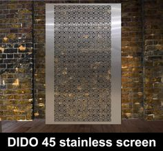 DIDO 45 stainless steel perforated fretwork screen designs the largest range in the UK.
