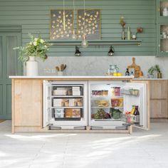 Basement Kitchen, Kitchen Reno, Kitchen Design, Kitchen Appliances, Kitchen Ideas, Basement Ideas, Kitchen Island, Under Counter Fridge Freezers, Houses