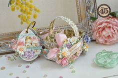 Easter egg micro album in Easter basket