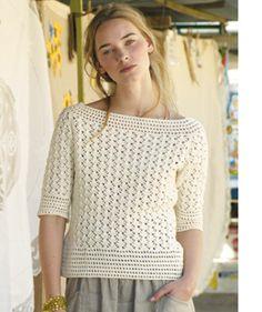 """""""Menorca"""" #crochet sweater pattern by Marie Wallin, published in Rowan Summer Crochet."""