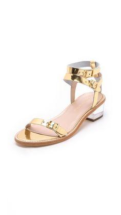 heddie lucite heel sandals / loeffler randall