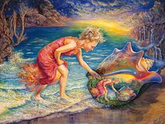 Fantasy painting by Josephine Wall.