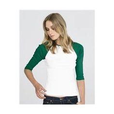 Bella Ladies' 1×1 Rib 3/4 Sleeve Raglan T-Shirt 2000 (Apparel)  http://234.powertooldragon.com/redirector.php?p=B003D8JZCU  B003D8JZCU