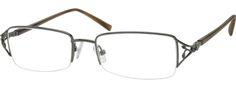 Women's Grey 4143 Metal Alloy / Stainless Steel Half Rim Frame with Spring Hinges | Zenni Optical Glasses-uzXelTqv