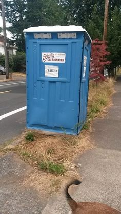 Doctor Who Budget Cuts -not a tardis. Definitely. Not a tardis