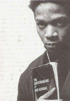 Jean-Michel Basquiat reading The Subterraneans by #JackKerouac