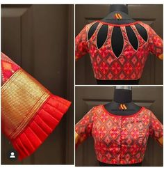 Top 30 Latest And Trendy Blouse Designs For Back Neck - - Here are the latest 30 blouse design for back neck that is impeccably immaculate and you can certainly opt for these or customize them as per your choice. Blouse Back Neck Designs, New Saree Blouse Designs, Simple Blouse Designs, Stylish Blouse Design, Brocade Blouse Designs, Latest Blouse Neck Designs, Indian Blouse Designs, Blouse Neck Patterns, Shirt Designs