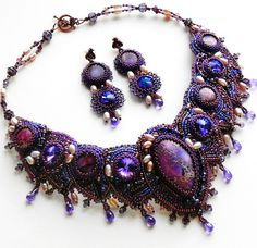 Loving the colors going on here.Beautiful embroidered jewelry by Alena Cilenticyriver(III) | Beads Magic